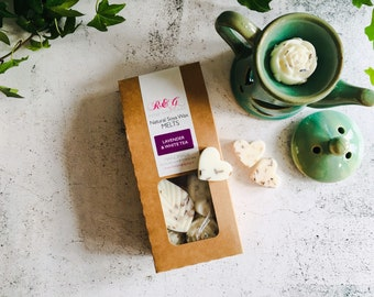 Lavender & White Tea Scented Natural Soya Wax Melts - Boxed melts