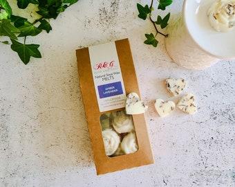 Amber Lavender Scented Natural Soya Wax Melts - Boxed melts