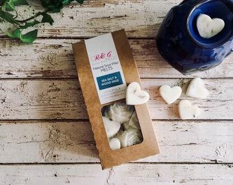 Sea Salt & Wood Sage Scented Natural Soya Wax Melts - Boxed melts
