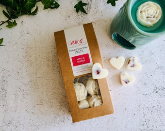 Apple & Berries Scented Natural Soya Wax Melts - Boxed melts