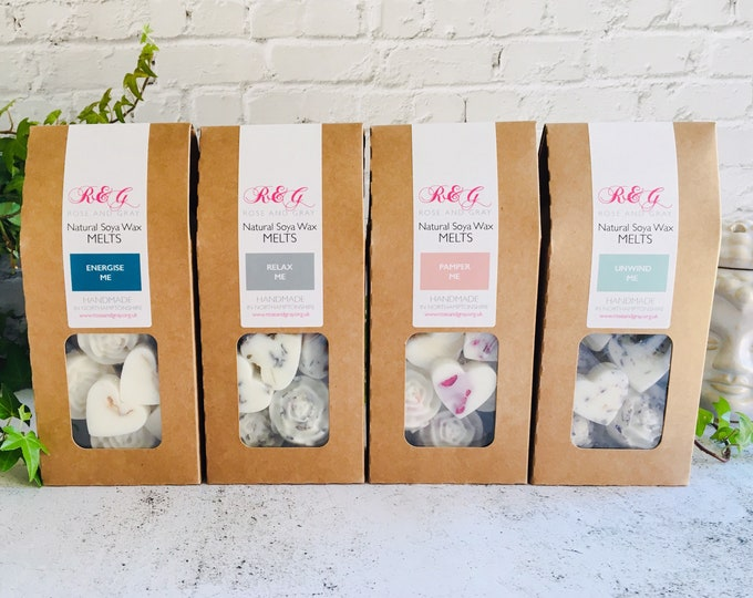 Featured listing image: Spa Day Selection - Scented Natural Soya Wax Melts - Spa Range - Boxed melts