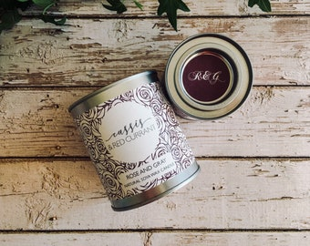 Cassis & Red Currant Scented Natural Soya Wax Candle - Paint Pot Container Candle - Autumn/Winter Scents