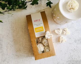 Lavender & Lemongrass Scented Natural Soya Wax Melts - Boxed melts
