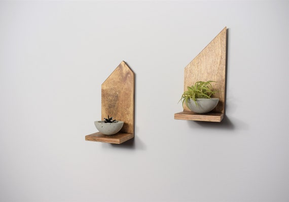 wall small shelf wood