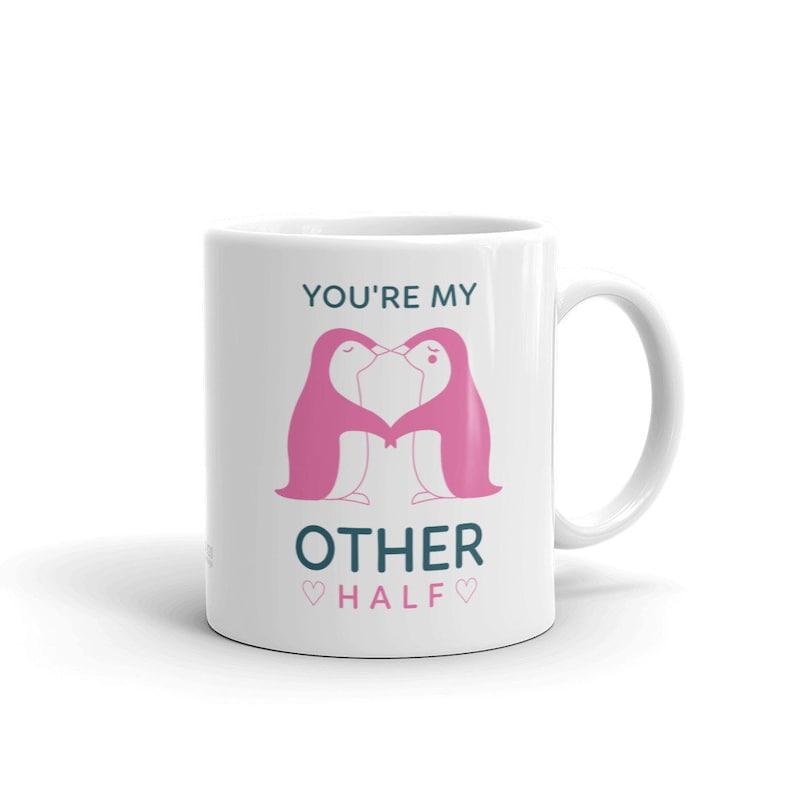 Penguin Mug Penguin Gift Valentines Day Mug for Her