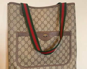 f3a2f802c Authentic Vintage Gucci Tote with Dust Bag
