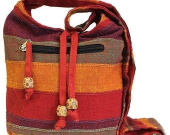 Hipster Bag Boho Bag Purple Shoulder Bag Eco Friendly Sling Bag Fair Trade Bag Handmade Pure Cotton Sling Bag Hippy Bag Bohemian Bag