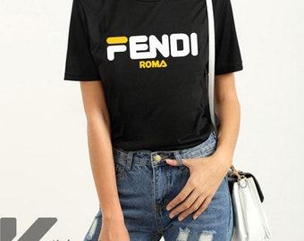 f3e9f21dc6a9 Fendi Roma T-Shirt Fendi Shirt Fendi T Shirt Fendi Tshirt Women Size  T-Shirt KS-2201