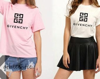 Givenchy Paris Logo T-Shirt Givenchy Shirt Givenchy T Shirt Givenchy Tshirt  Women Size T-Shirt KS-2202 aa17a222df