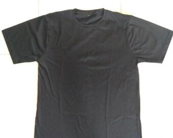 50883df1963 Blank T Shirt Black Shirt Gift For Men And Women T-Shirt tee size S M L XL  XXL