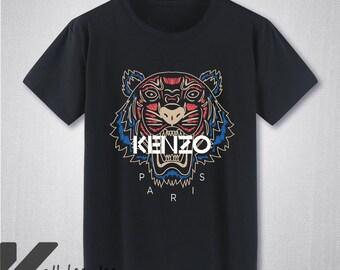 ab36c9b4edba HOT Kenzo Paris Tiger Logo T Shirt Kenzo Shirt Kenzo Tshirt New Brand  Casual Fashion Kenzo Black Unisex Size T-Shirt S - 3XL KL2205