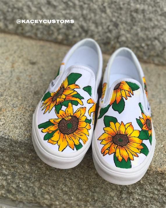 Sunflower Vans | Etsy