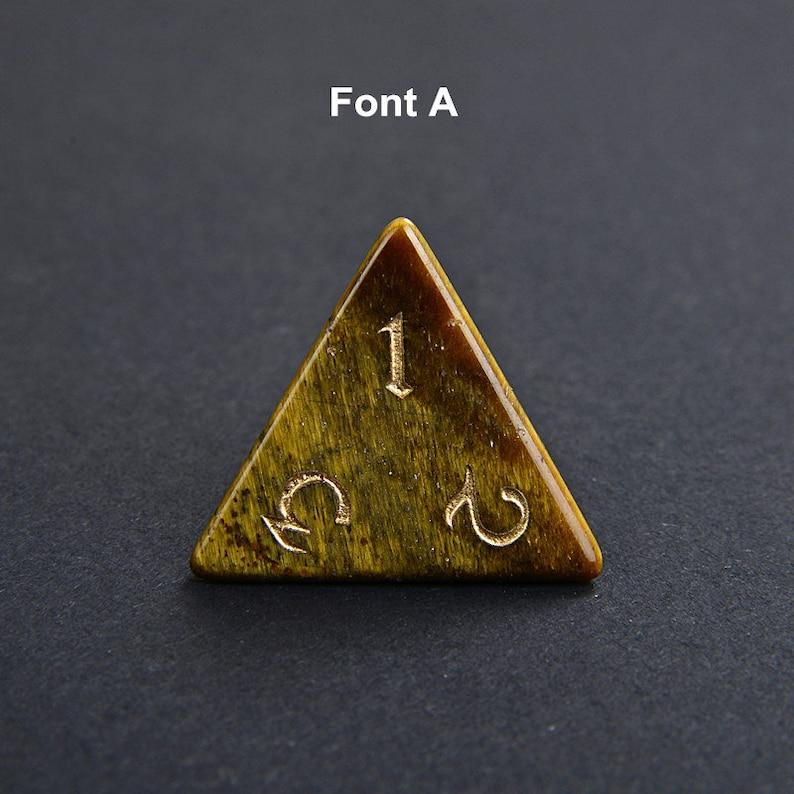 full Set Yellow Tiger Eye Gemstone Dice Engraved DnD Dice Set Stone RPG Dungeons and Dragons Dice Polyhedral Gemstone Dice Set