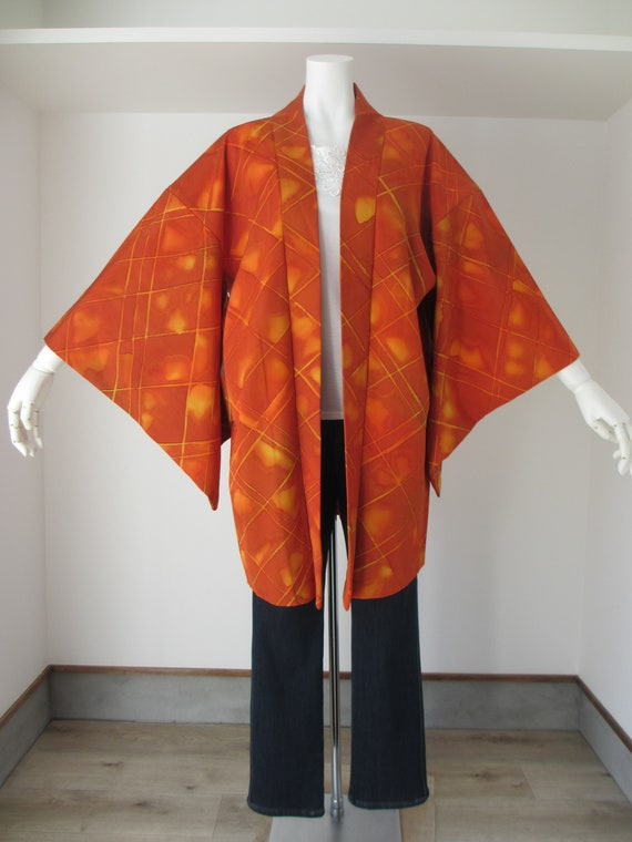 NO.180 Japanese vintage Haori Kimono Jacket good condition!