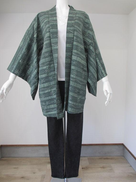 NO.411 Japanese vintage Haori Kimono Jacket very good condition!