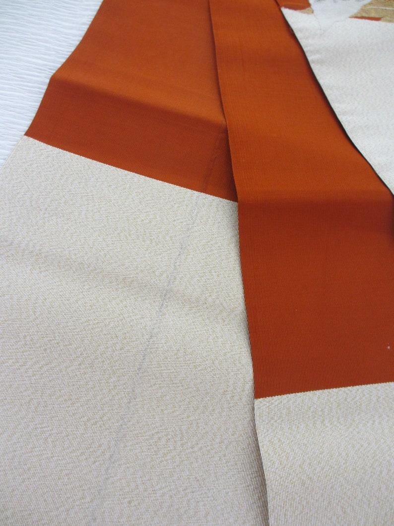 No.457 Japanese vintage kimono obi silk Japan/'s traditional wonderful textile technology
