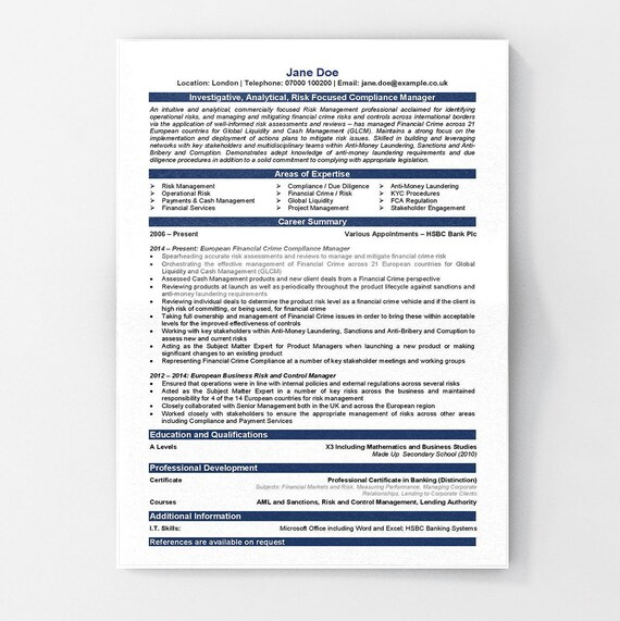 Executive CV Template | Executive Resume | Professional Resume |  Professional CV | CV Template | Resume | Modern Resume | Instant Download