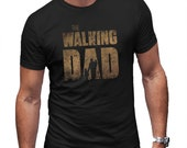 The Walking Dad Mash Up T-Shirt Mens Black Tee Funny Shirt