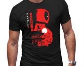 DeadPool Anime Japanese Mash Up T-Shirt Mens Halloween Shirt