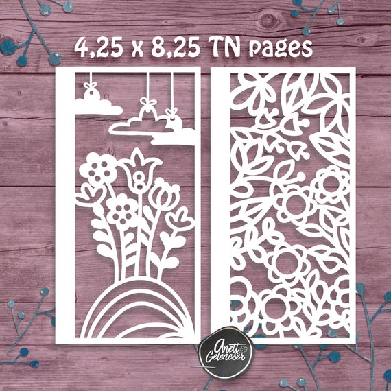 Scrapbook Traveler/'s notebook pages cut files Speech Bubbles and Geometric Fun Cricut svg png dxf pdf  Silhouette TN pages