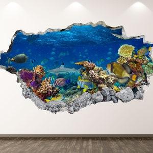 Q683 Clown Fish Swim Ocean Living Window Wall Decal 3D Art Stickers Vinyl Room