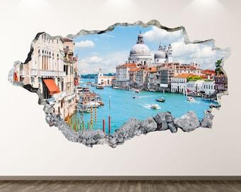 Mask Gondola  Italian food,Decal Window Sticker Room Vinyl sticker Handmade2391 Wine,Italy,Venice Wall Decal Carnival decor