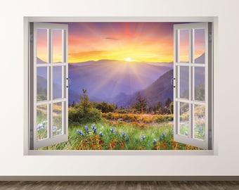 Bear Mountain Scene Wall or Window Decal