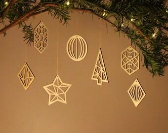 Personnalisé Woodland renards Joyeux Noël Babiole famille Noël Décoration