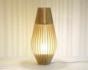 Lamp hanging wooden box Scandinavian to Design minimalist green Cocoon recycled KIDO Beaucarnea