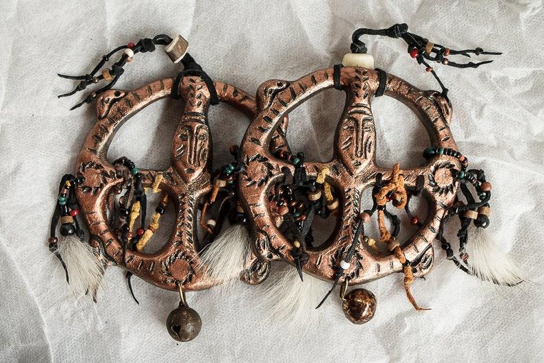 Copper shaman bracelet Siberia Russia