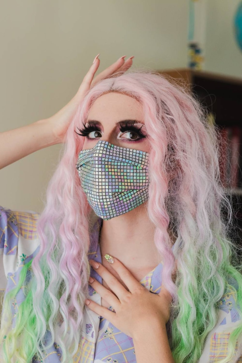 Disco Holographic Face Mask image 0