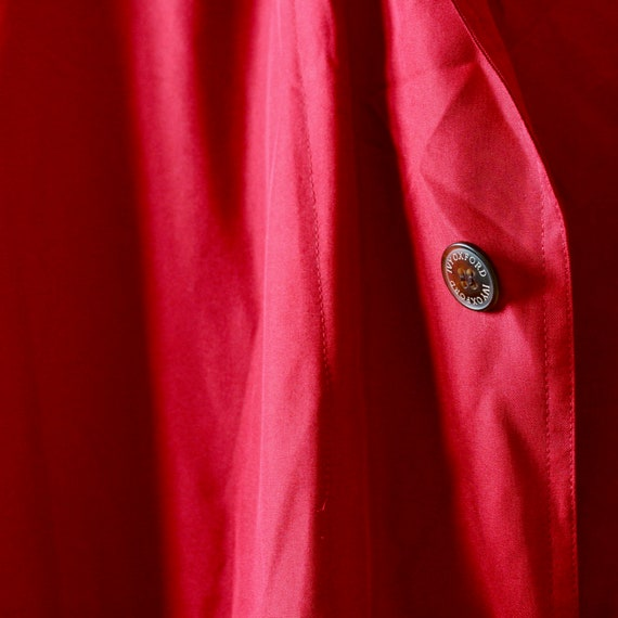 Men's Ivy Oxford Red Silk Jacket Man Vintage 90s … - image 4