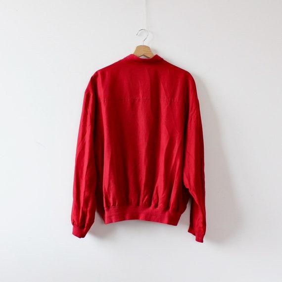 Men's Ivy Oxford Red Silk Jacket Man Vintage 90s … - image 7