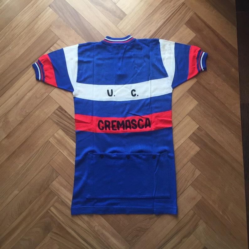 Men/'s Vintage 70/'s Embroidered Wool Moka Liudi Team Cycling Jersey