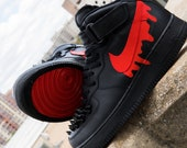 Nike Air Force 1 - Custom quot Bloody Shoe quot - Available in ALL SIZES