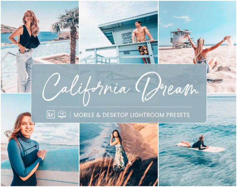 5 Lightroom Presets California Mobile Presets Beach Summer image 0
