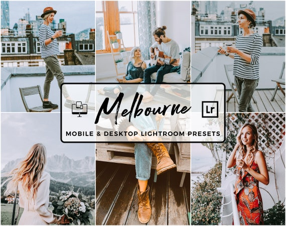 5 Lightroom Presets, Melbourne Mobile Presets, Fashion Preset, Warm and  Cold Bright Presets, Moody Desktop Lightroom Preset, Blogger Presets