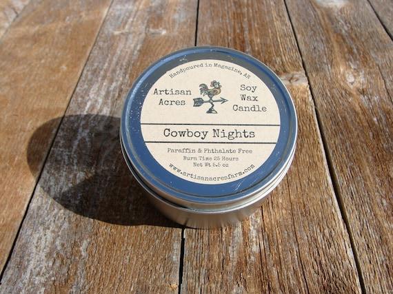 Skin Allergies Mount Nebo Arkansas Christmas 2020 Cowboy Nights Soy Wax Candle Clean Burning Vegan Friendly | Etsy