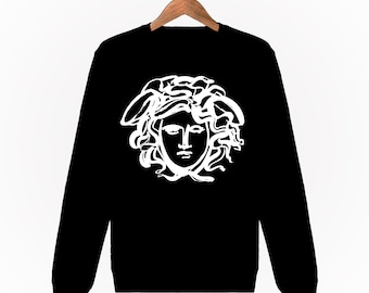 Sweatshirt Mixte Unisexe Homme Femme Men Women Sweat Gianni Versace Medusa  Paint Paris Luxe S M L XL XXL Noir Black c3c69493e78