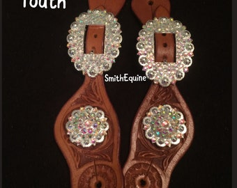 Youth Bling Spur Straps - Made in your color combo choice