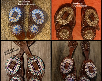 Youth or Adult Bling Spur Straps - Made in your color combo choice