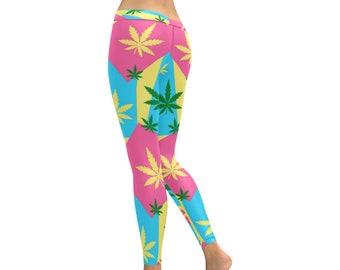 f54208d5c87a05 Workout Pants Women Pot Weed, 420 Clothing, Stoner, Leggings for Women,  Weed Leggings, Cannabis Marijuana Leaf Design, Marijuana Leggings