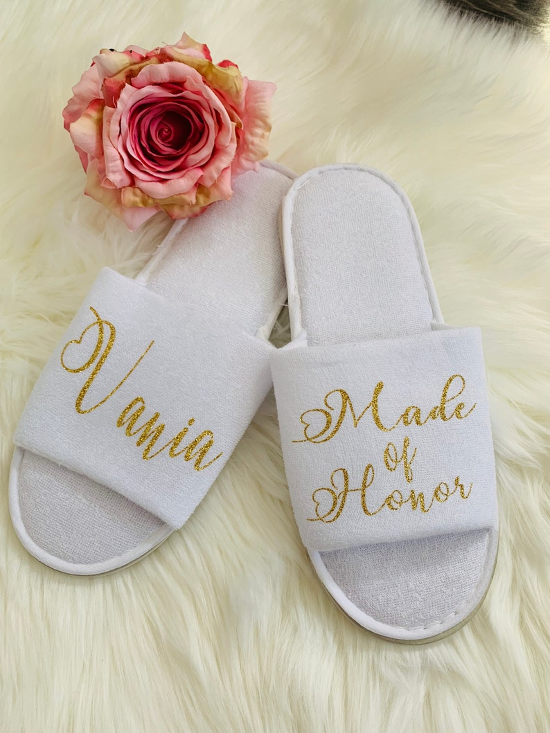 Bridal Party Slipper Bridesmaid Gift Ideas Bridal Party Gifts Bride Slippers- Bridesmaid Slippers Gift ideas Thin Spa Slippers
