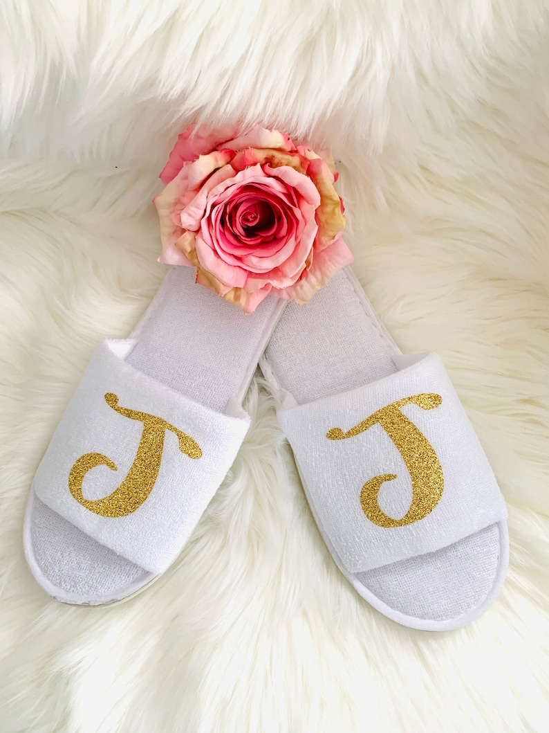 Thin Spa Slippers Bridal Party Slipper Bridal Party Gifts Bridesmaid Gift Ideas Bride Slippers- Bridesmaid Slippers Gift ideas