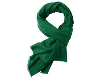 c4097ac24 AlchemyStory Dark Green Twill Weave Cashmere Scarf