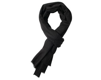 8c8791ccd AlchemyStory Natural Black Cashmere Scarf