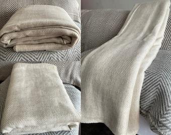 AlchemyStory Cashmere Blanket   Cashmere Throw Blanket   Cashmere Baby Blanket   Cashmere Travel Blanket   Blanket Cream White   Baby Shower