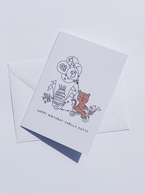 Happy Birthday Chella Kutty Tamil Greeting Card Blank Cute Etsy Love you every day, and on your birthday love you more. etsy