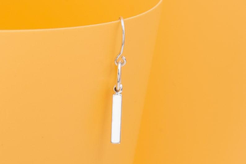 67099-2502 10 Square Stick Bars Pendants Earrings White Gold Tone