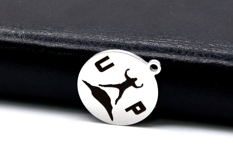 1 pcs Stainless Steel Up Coin Charm 40595-2148